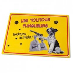 "Spisemåtte til hunde ""Les toutous flingueurs"""