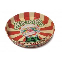 """Rund metalbakke - """"Bonbons gourmands"""""""