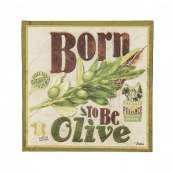 "Servietter - ""Born to be olive"" - 20 stk."