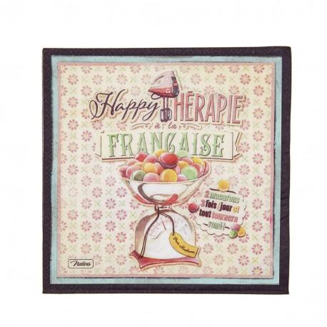 "Servietter - ""Happy thérapie-Macarons"" - 20 stk."