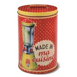 """Rund dåse - """"Made in ma cuisine"""" - stor"""