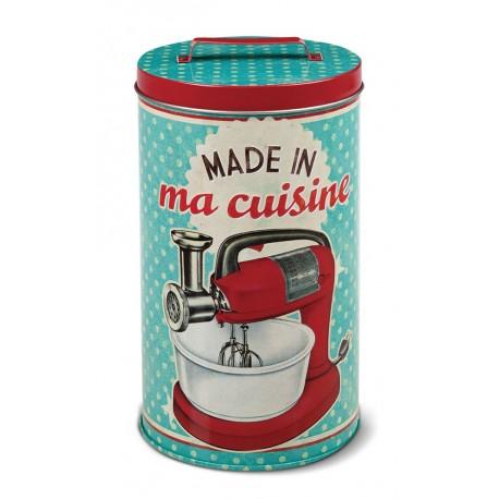 """Rund dåse - """"Made in ma cuisine"""" - mellem"""