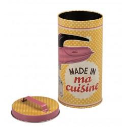 """Rund dåse - """"Made in ma cuisine"""" - lille"""