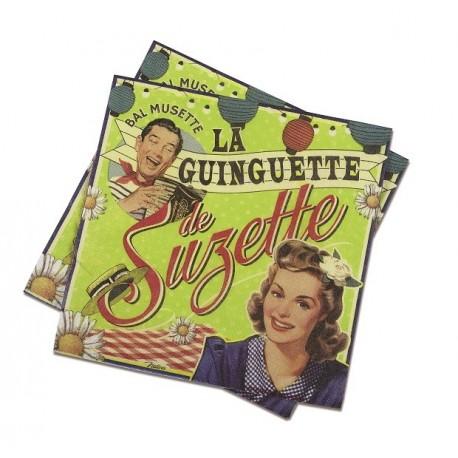 """Servietter - """"Guingette"""" - 20 stk."""