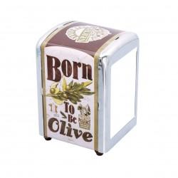 "Servietdispenser - ""Born to be olive"""