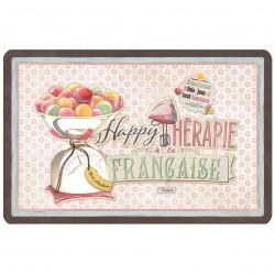 "Dækkeserviet - ""Happy thérapie-macarons"""