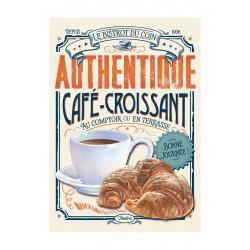 """Metalskilt - """"Café croissant"""" - A3"""