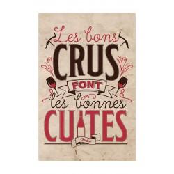 """Metalskilt - """"Les bons crus"""" - A4"""