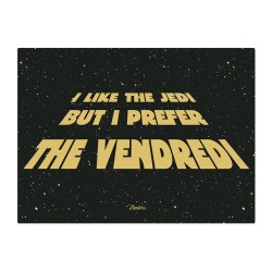 "Metalskilt - ""I like the jedi"" - A5"