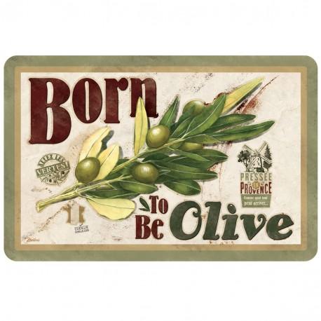 """Dækkeserviet - """"Born to be olive"""""""