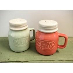 Salt- og pebersæt i keramik
