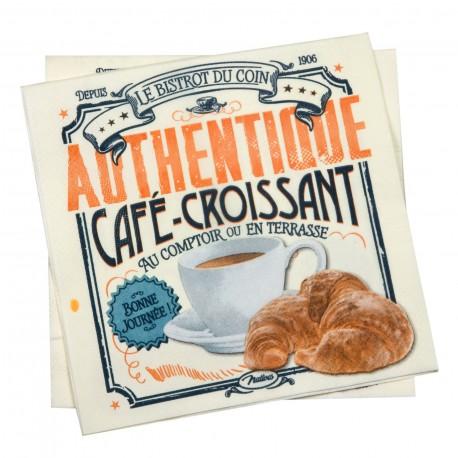 """Servietter """"Café croissant"""""""