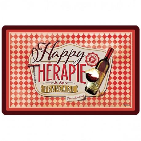"""Dækkeserviet - """"Happy thérapie-vin"""""""
