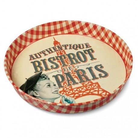 """Rund metalbakke - """"Bistrot de Paris"""""""
