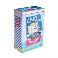 """Opbevaringsdåse til kattemad - """"Chat thon"""""""