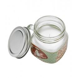 Duftlys i glaskrukke - orangeblomst/pudder