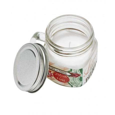 Duftlys i glaskrukke - krydderier/røget te/cedertræ