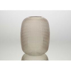 Glasvase - 27 cm - Beige