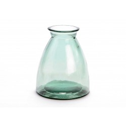 Glasvase - 20 cm - Lysegrøn