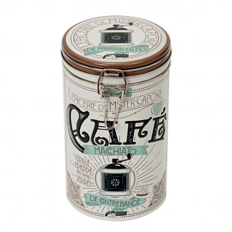 "Rund kaffedåse med patentlåg - ""Mister Capone"""
