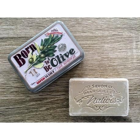 Savon de Marseille - oliven - 100 g fast håndsæbe