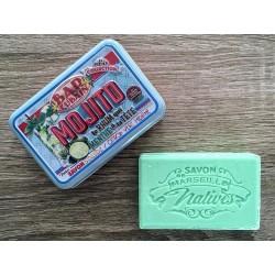 Savon de Marseille - mynte/lime - 100 g fast håndsæbe
