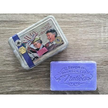 Savon de Marseille - iris/fersken - 100 g fast håndsæbe