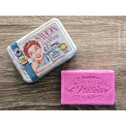 Savon de Marseille - vanilje/rose/jasmin - 100 g fast håndsæbe