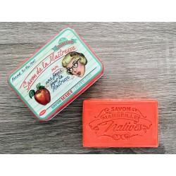 Savon de Marseille - æble - 100 g fast håndsæbe