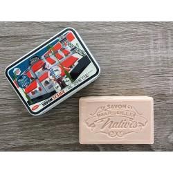 Savon de Marseille - iris/jasmin/læder - 100 g fast håndsæbe