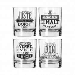 Whiskyglas - 4 stk.