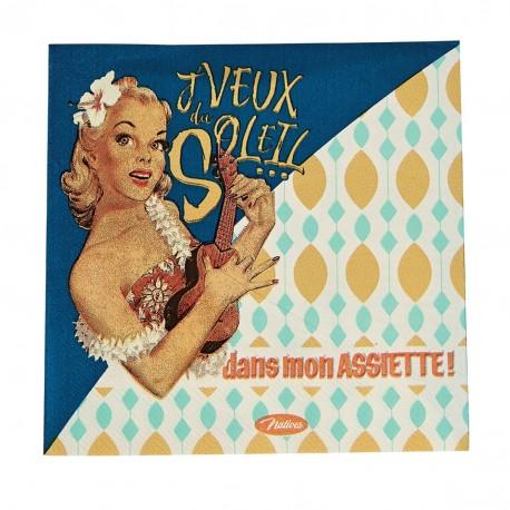 """Servietter - """"J'veux du soleil"""" - 20 stk."""