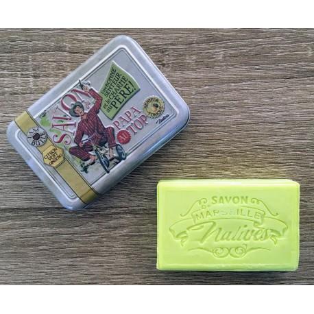 Savon de Marseille - lime/ginseng - 100 g fast håndsæbe