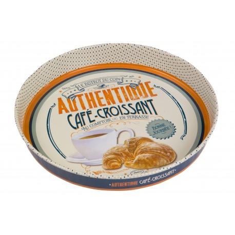 "Rund metalbakke ""Café croissant"""