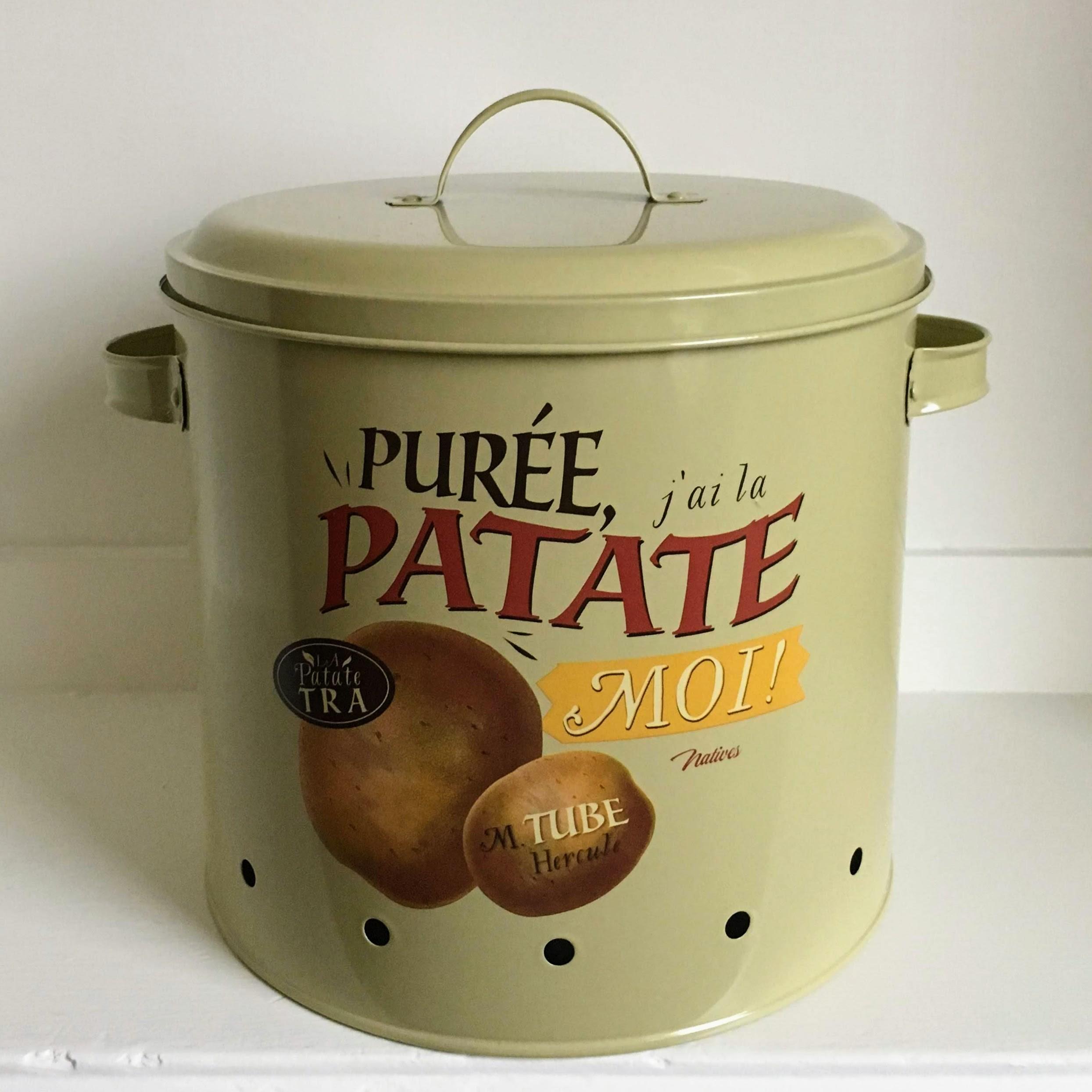 Picture of: Charmerende Kartoffelkrukke I Emaljeret Metal Den Gule Hylde