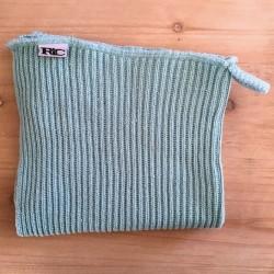 Strikket håndklæde - Støvet mint