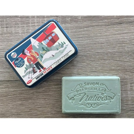 Savon de Marseille - malurt/cedertræ - 100 g fast håndsæbe