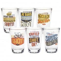 Sæt med 6 shotglas