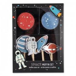 Cupcakesæt - Astronaut