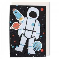 Fødselsdagskort A5 - Astronaut