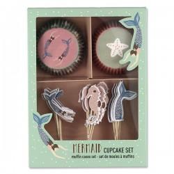 Cupcakesæt - Havfrue