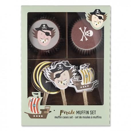 Cupcakesæt - Pirat