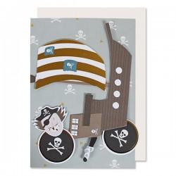 Fødselsdagskort A5 - Pirat