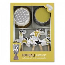 Cupcakesæt - Fodbold