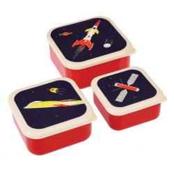 Snackbokse - Space Age - 3 stk.