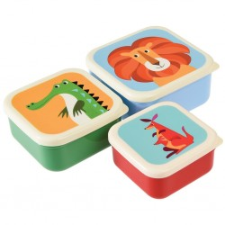 Snackbokse - Colourful Creatures - 3 stk.