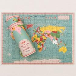 Puslespil - verdenskort - 300 brikker