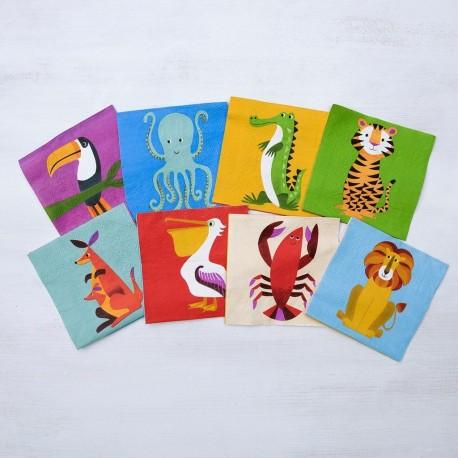 Servietter - Colourful Creatures - 20 stk.
