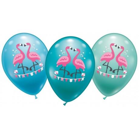 Balloner , flamingo - Ø 28-30 cm - 6 stk.