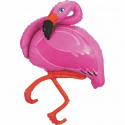 Folieballon, flamingo - 122 cm